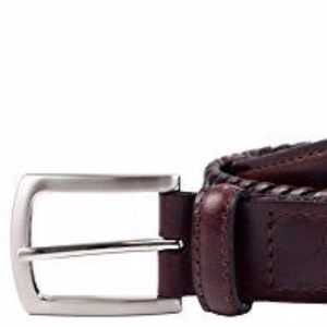 DOCKERS DOUBLE -V WEAVE LEATHER BELT NWT 42